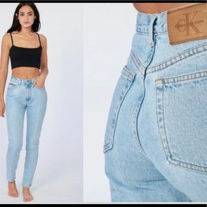 Calvin Klein High Waisted Mom Jean
